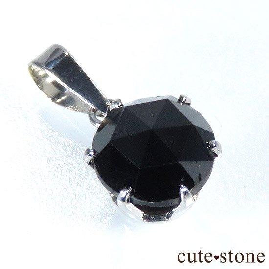 ブラックダイヤモンド 1ct プラチナ900製ペンダントトップの写真1 cute stone