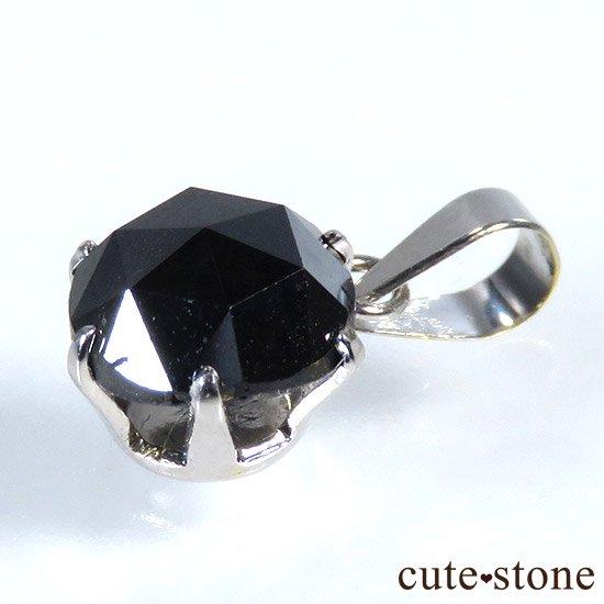 ブラックダイヤモンド 1ct プラチナ900製ペンダントトップの写真2 cute stone