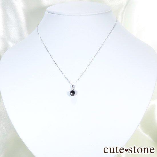 ブラックダイヤモンド 1ct プラチナ900製ペンダントトップの写真4 cute stone