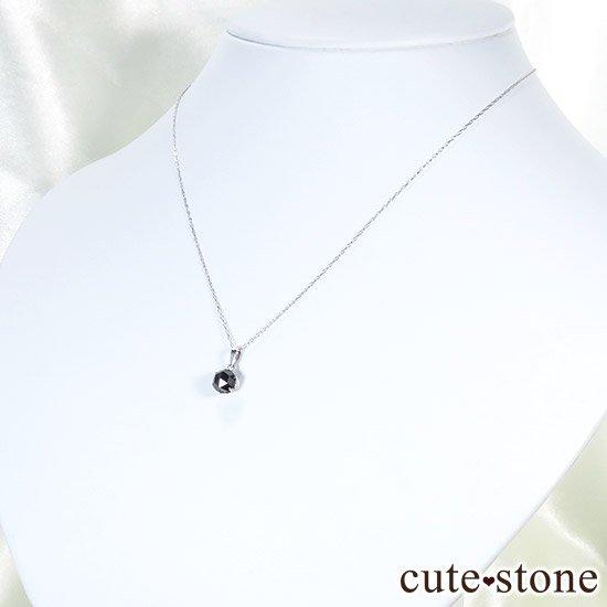 ブラックダイヤモンド 1ct プラチナ900製ペンダントトップの写真5 cute stone
