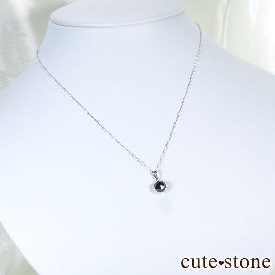 ブラックダイヤモンド 1ct プラチナ900製ペンダントトップの写真6 cute stone