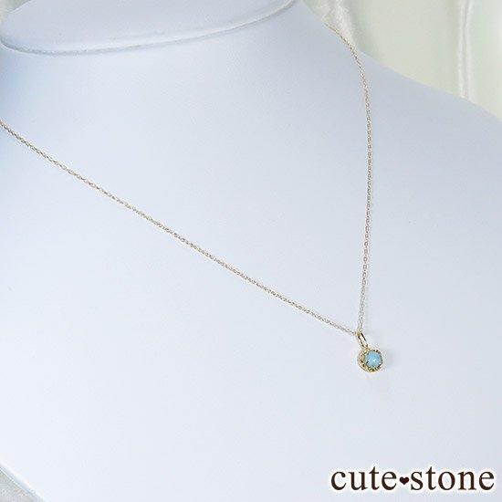 ラリマーのK18ペンダントトップの写真4 cute stone
