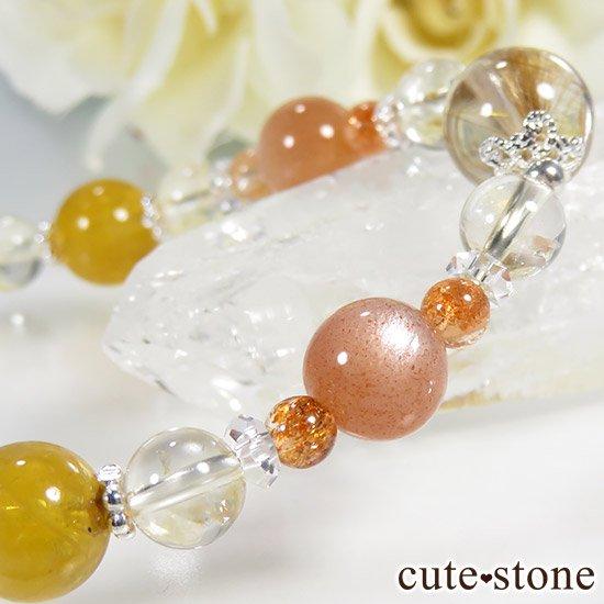 【太陽のかけら】 オレンジゴールドルチル ヘリオドール オレンジムーンストーン サンストーン シトリンのブレスレットの写真1 cute stone