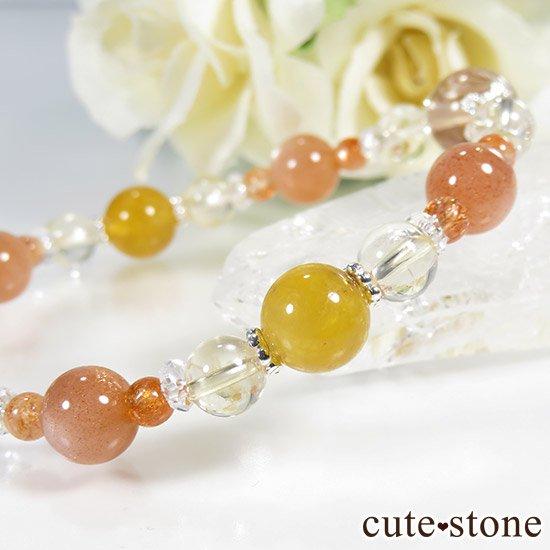 【太陽のかけら】 オレンジゴールドルチル ヘリオドール オレンジムーンストーン サンストーン シトリンのブレスレットの写真2 cute stone