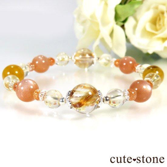 【太陽のかけら】 オレンジゴールドルチル ヘリオドール オレンジムーンストーン サンストーン シトリンのブレスレットの写真3 cute stone