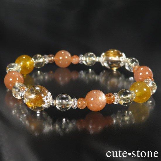 【太陽のかけら】 オレンジゴールドルチル ヘリオドール オレンジムーンストーン サンストーン シトリンのブレスレットの写真5 cute stone