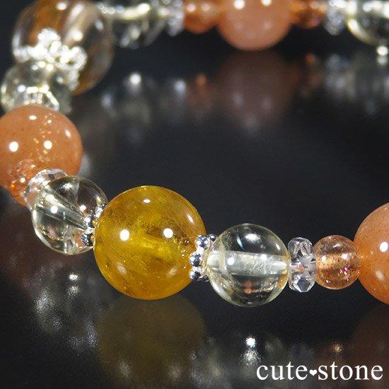 【太陽のかけら】 オレンジゴールドルチル ヘリオドール オレンジムーンストーン サンストーン シトリンのブレスレットの写真6 cute stone