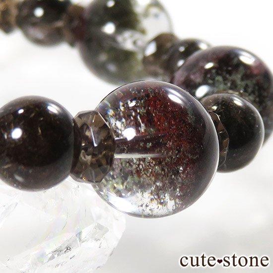 【GAIA】 ガーデンクォーツ ブラウンルチル スモーキークォーツのブレスレットの写真1 cute stone