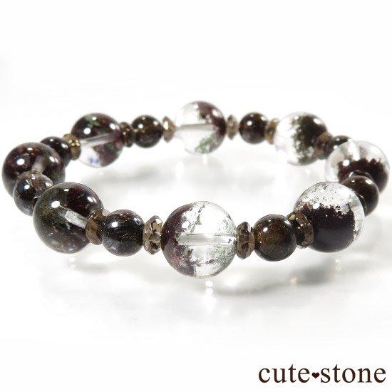 【GAIA】 ガーデンクォーツ ブラウンルチル スモーキークォーツのブレスレットの写真3 cute stone