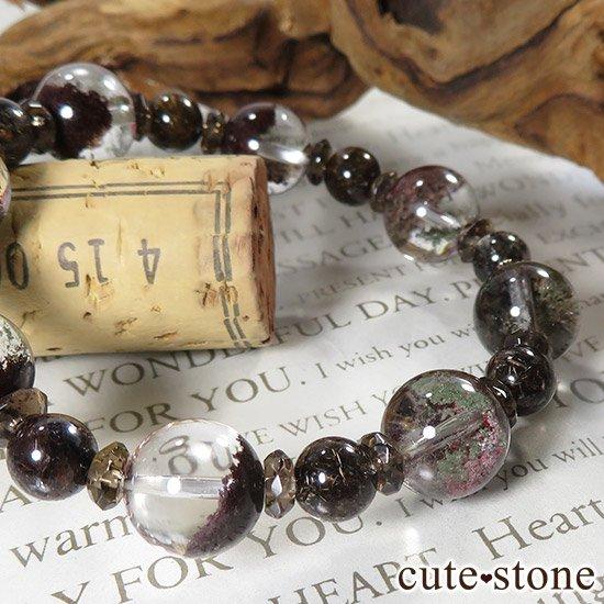 【GAIA】 ガーデンクォーツ ブラウンルチル スモーキークォーツのブレスレットの写真5 cute stone