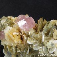 ピンクアパタイトの原石(鉱物標本) パキスタン産の画像