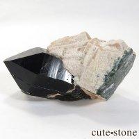 山東省産 モリオン(黒水晶・カンゴーム)の原石 161gの画像