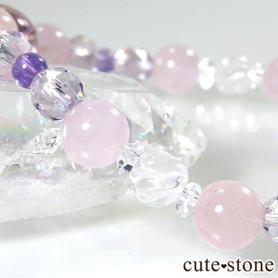 【桜色の季節】 アメトリン モルガナイト アメジスト ミルキークォーツのブレスレットの写真3 cute stone