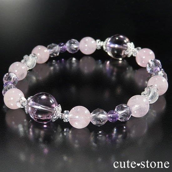 【桜色の季節】 アメトリン モルガナイト アメジスト ミルキークォーツのブレスレットの写真5 cute stone