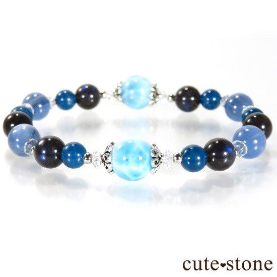 【静かな夜の海】 ラリマー カイヤナイト ブラックラブラドライト ブルーアパタイトのブレスレットの写真0 cute stone
