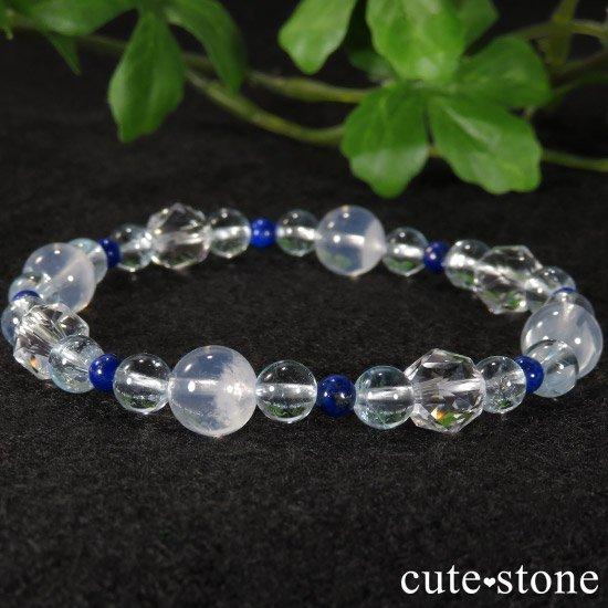 【water magic】 K2ムーンクォーツ ブルートパーズ ラピスラズリ 水晶のブレスレットの写真0 cute stone