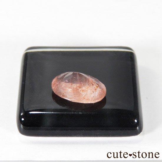 カザフスタン産 ストロベリークォーツのカットルース 1.2ctの写真1 cute stone