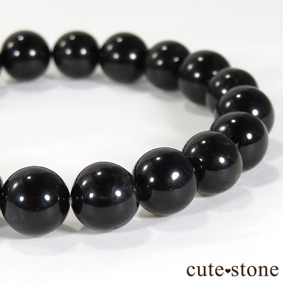 【1/2売り対象】 山東省産モリオン(黒水晶) AA+ 9mmのブレスレットの写真0 cute stone