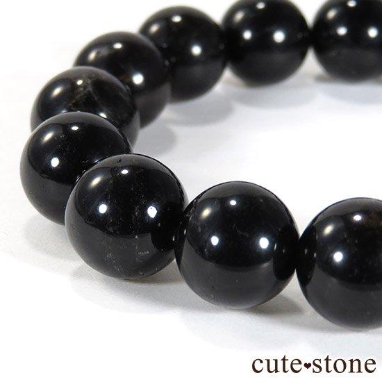 【1/2売り対象】 山東省産モリオン(黒水晶) AA+ 12mmのブレスレットの写真1 cute stone