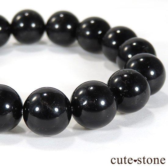 【1/2売り対象】 山東省産モリオン(黒水晶) AA+ 12mmのブレスレットの写真2 cute stone
