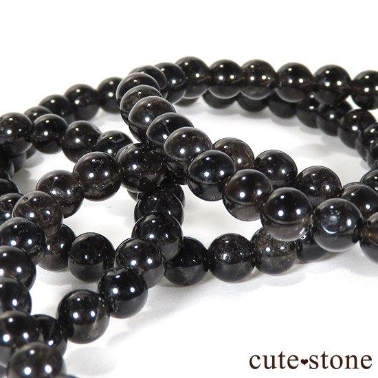 【特価品】山東省産モリオン(黒水晶) AA 6mmのブレスレットの写真0 cute stone