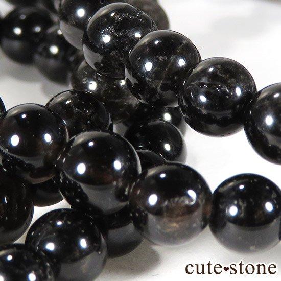 【特価品】山東省産モリオン(黒水晶) AA 6mmのブレスレットの写真1 cute stone