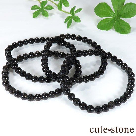 【特価品】山東省産モリオン(黒水晶) AA 6mmのブレスレットの写真3 cute stone