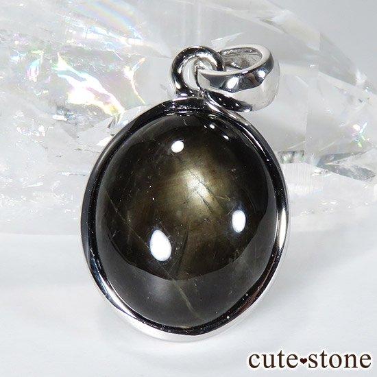 ブラックスターサファイアのペンダントトップの写真1 cute stone