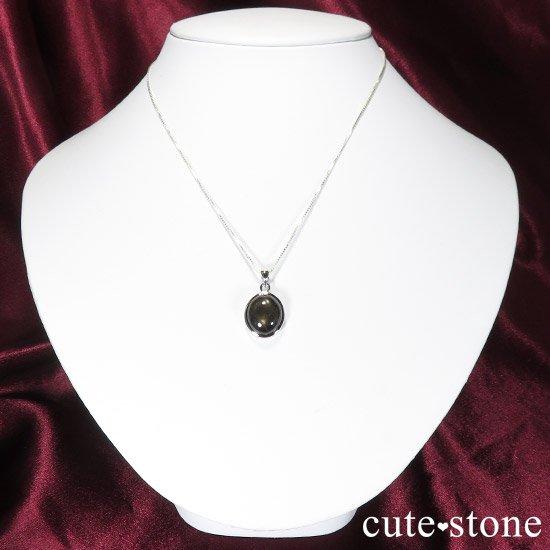 ブラックスターサファイアのペンダントトップの写真2 cute stone