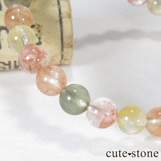 アンフィボールインクォーツ(福禄寿) AA+ 6.5〜7mm のシンプルブレスレットの写真0 cute stone