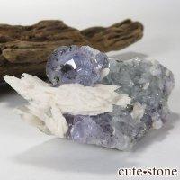 メキシコ産 フローライト&マンガノカルサイトの標本(原石)の画像