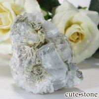 パキスタン産アクアマリン 母岩付き結晶(原石)56gの画像