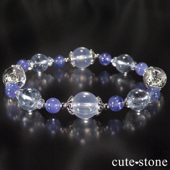 【ICE AGE】 K2ムーンクォーツ アイリスクォーツ ブルートパーズ タンザナイトのブレスレットの写真0 cute stone