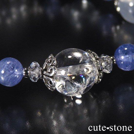 【ICE AGE】 K2ムーンクォーツ アイリスクォーツ ブルートパーズ タンザナイトのブレスレットの写真1 cute stone