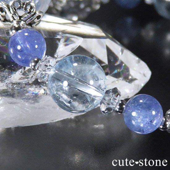 【ICE AGE】 K2ムーンクォーツ アイリスクォーツ ブルートパーズ タンザナイトのブレスレットの写真2 cute stone