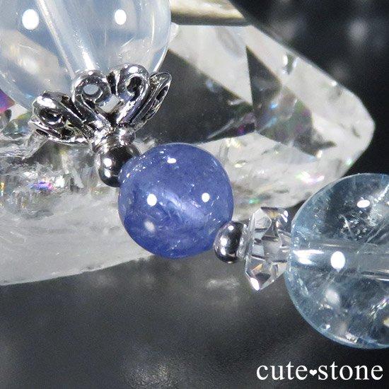 【ICE AGE】 K2ムーンクォーツ アイリスクォーツ ブルートパーズ タンザナイトのブレスレットの写真3 cute stone