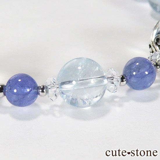 【ICE AGE】 K2ムーンクォーツ アイリスクォーツ ブルートパーズ タンザナイトのブレスレットの写真5 cute stone
