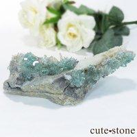 中国 福建省産ブルーグリーンフローライトの原石 143gの画像