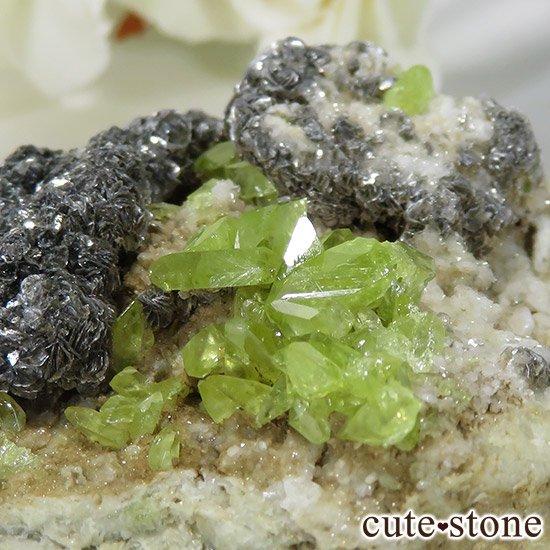 パキスタン スカルドゥ産 スフェーンの母岩付き原石 60gの写真1 cute stone