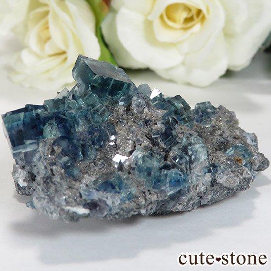 中国 湖南省産 ブルーフローライトの標本(原石)36gの写真0 cute stone