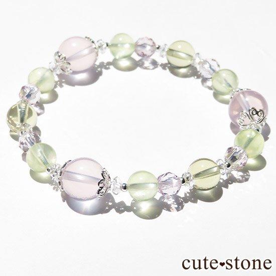 【FLOWER】 スターローズクォーツ プレナイト レモンクォーツ ローズアメジストのブレスレットの写真3 cute stone