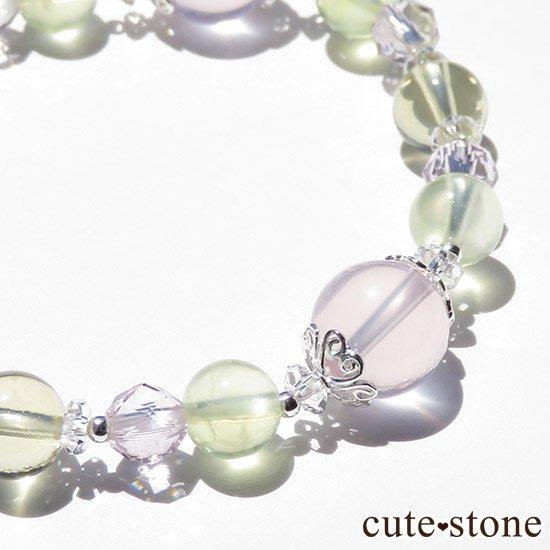 【FLOWER】 スターローズクォーツ プレナイト レモンクォーツ ローズアメジストのブレスレットの写真4 cute stone