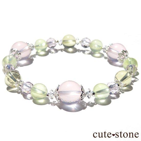 【FLOWER】 スターローズクォーツ プレナイト レモンクォーツ ローズアメジストのブレスレットの写真5 cute stone