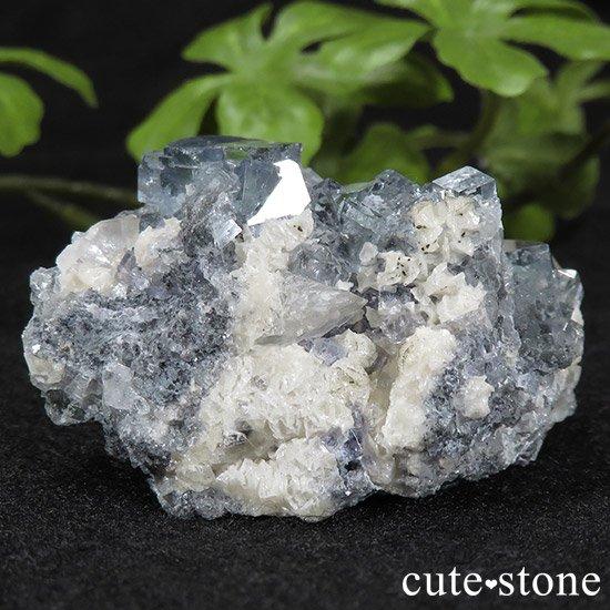 中国 湖南省産 ブルーフローライトの標本(原石)43gの写真0 cute stone