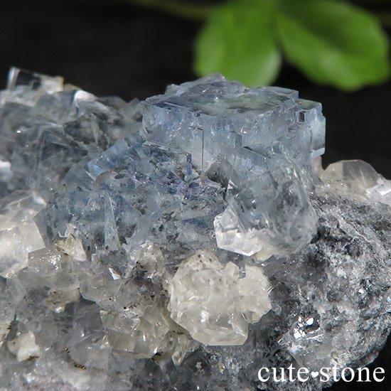 中国 湖南省産 ブルーフローライトの標本(原石)43gの写真1 cute stone