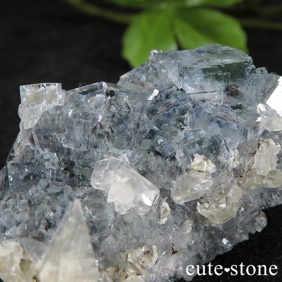 中国 湖南省産 ブルーフローライトの標本(原石)43gの写真2 cute stone