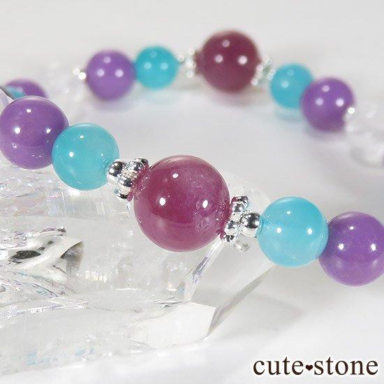 【Morning Glory】チャロアイト ルビー フォスフォシデライト アイスアマゾナイト ミルキークォーツのブレスレットの写真4 cute stone
