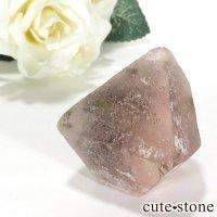 ピンクフローライト(内モンゴル産)の八面体結晶(原石) 70gの画像