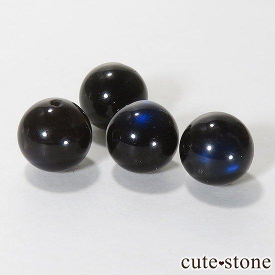 【粒売り】ブラックラブラドライト AAA ラウンド9mmの写真1 cute stone