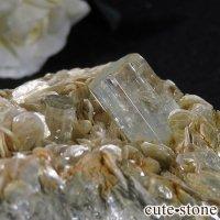 パキスタン産アクアマリン 母岩付き結晶(原石)199gの画像
